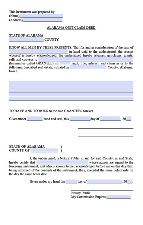 free printable quit claim deed alabama quit claim deed template word maryland quitclaim deed