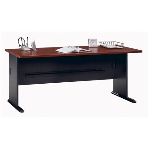 bush bbf series a 72w desk in hansen cherry wc94472