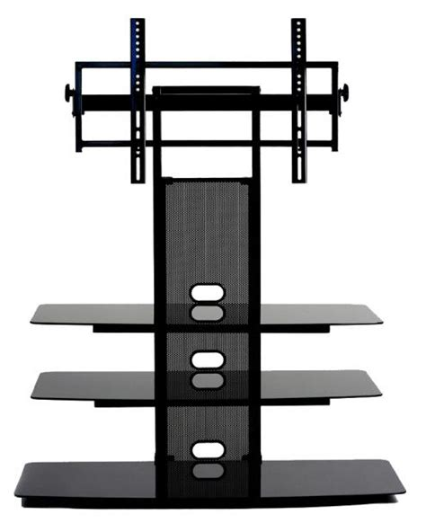 Tv Mount Shelf System by Flat Panel Tv Mounting System With 3 Av Component Shelves