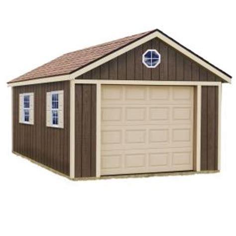 barns sierra  ft   ft wood garage kit