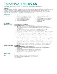 hr coordinator resume template benefits coordinator resume exles