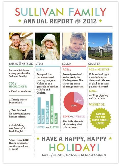 family newsletter template best photos of family newsletter template