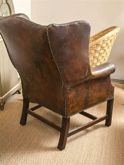 vintage wingback chair vintage leather wing chair at 1stdibs