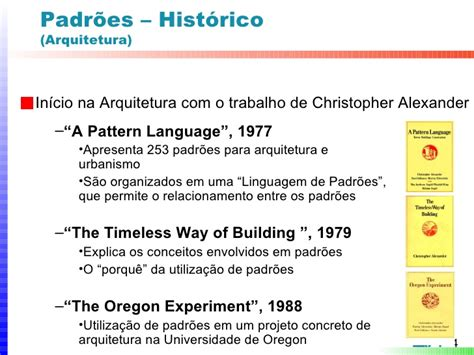 christopher alexander a pattern language 1977 desenvolvimento de sistemas interativos integra 231 227 o das