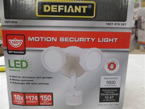defiant motion security light manual lighting liquidation led bulbs fixtures ls more in
