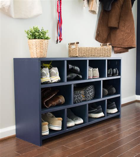 diy shoe cubby entryway week 2 free plans to build a shoe cubby