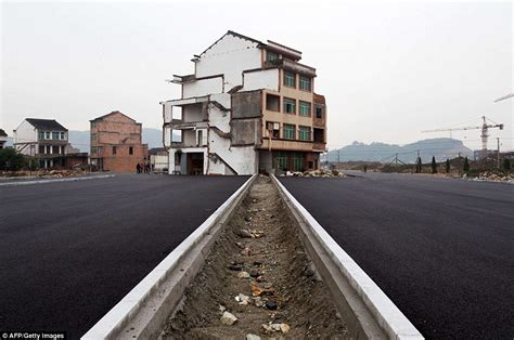china s nail houses before and after authorities razed
