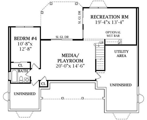 2 bedroom house plans with walkout basement lewisburg ranch 2808 3 bedrooms and 2 5 baths the house designers