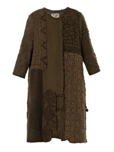 green swing coat by walid vintage crochet swing coat in green lyst