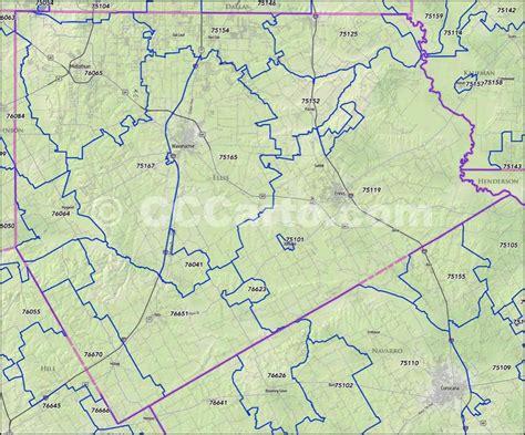 zip code map victoria tx ellis county texas zip code boundary map
