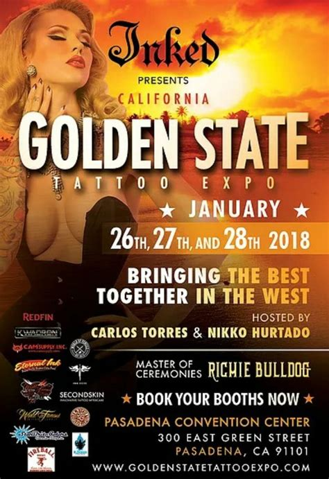 tattoo convention pasadena golden state tattoo expo january 2017