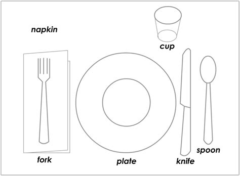 place setting template positive reinforcement using illustrated behavior charts