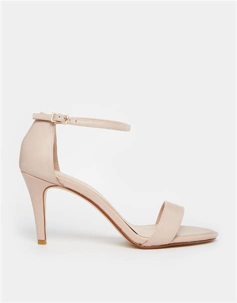 barely there sandals lyst carvela kurt geiger kiwi barely there heeled