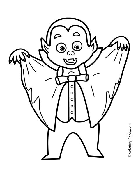 halloween vampire coloring pages  kids printable