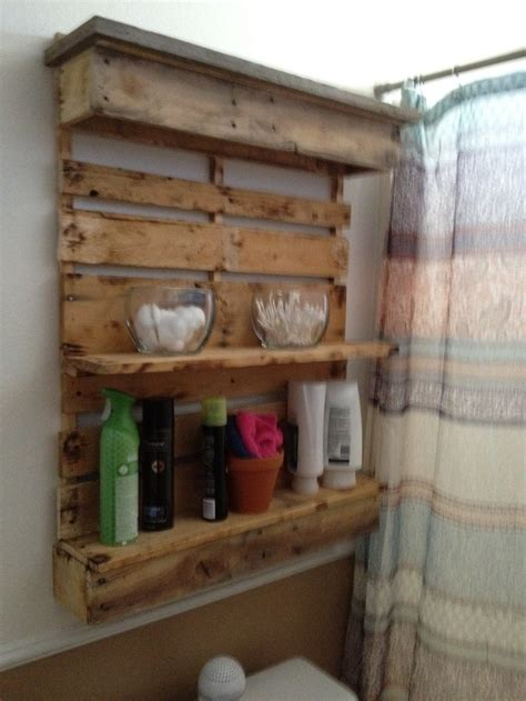 pallet ideas for bathroom bathroom shelf i pallets jose made it pinterest