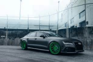 Audi Rs7 Modified Audi Rs7 Drops The Mic On Matte Green Custom Wheels