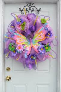 Heart Shaped Vases Butterfly Deco Mesh Wreath Bold Door Wreath Classy Butterfly