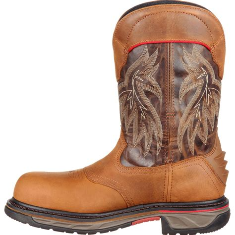 comfortable mens cowboy boots rocky iron skull s comfortable composite toe brown