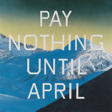 ed ruscha pay nothing until april edward ruscha tate
