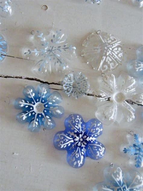 plastic snowflake ornaments diy snowflake ornaments from plastic bottles beesdiy