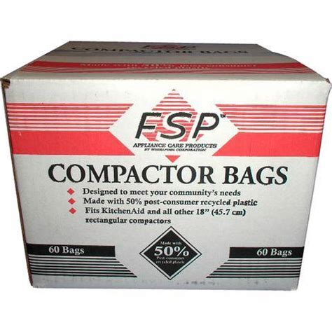 garbage compactor bags 180 whirlpool 18 inch plastic trash compactor bags 60