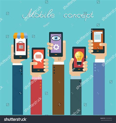 design by humans app mobile apps concept flat design vector stock vector