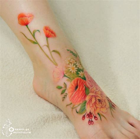 watercolor tattoos foot 10 beautifully designed floral watercolor tattoos
