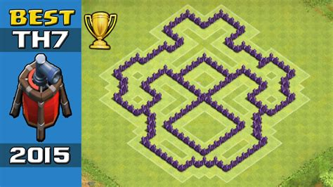 coc layout th7 with air sweeper clash of clans best th7 trophy base coc townhall 7