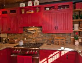Red Country Kitchen Cabinets by Country Red Kitchen Cabinets Red Kitchen 2 Kitchen