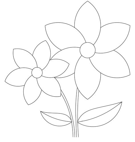flower to color flower template to color loving printable