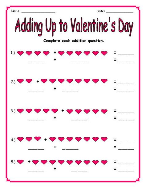 printable worksheets valentine s day 6 best images of valentine s day printable activities
