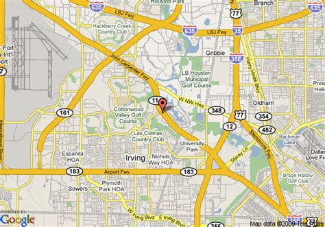 map irving texas map of aloft las colinas irving
