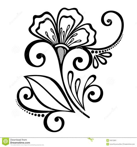 beautiful designs decorative flower with leaves stock image image 34572901