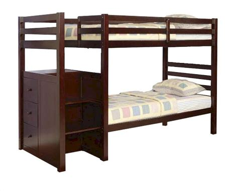 acme bunk beds acme furniture twin over twin bunk bed in espresso ac10180