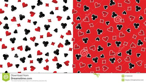 card patterns cards suits seamless patterns vector stock photo