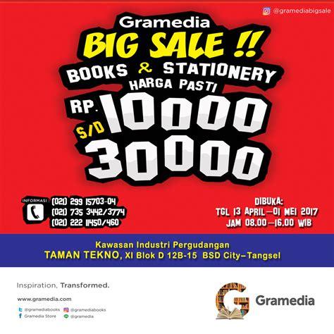 Sale Buku Gramedia 13 gramedia big sale taman tekno bsd city 13 april 1 mei 2017 haievent