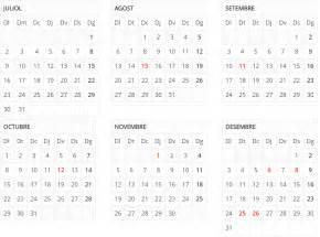 Calendari 2018 Català El Calendario De Fiestas En Catalunya Para El 2018