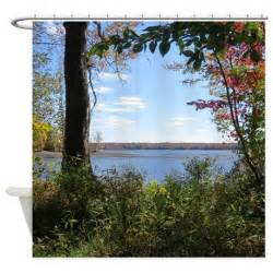 nature landscape scenery shower curtain by