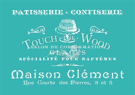 shabby chic stencils shabby chic stencil vintage patisserie advert