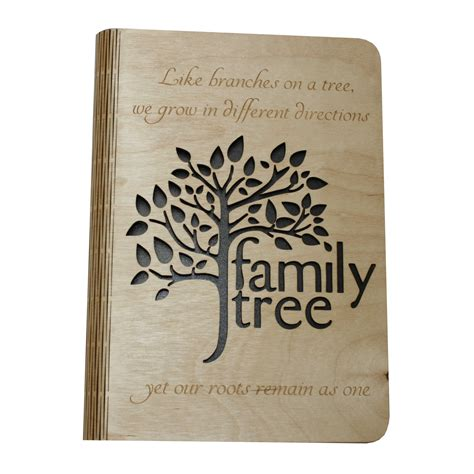 tree covers family tree a5 wooden book cover