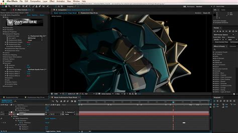 after effects tutorial audioreactive 3d shape morphing in after effects