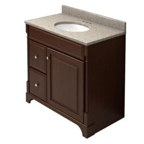 Home Depot Kraftmaid Bathroom Vanity Kraftmaid 36 In Vanity In Autumn Blush With