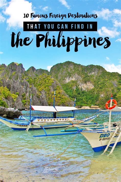 Find In The Philippines 10 Foreign Destinations That You Can Find In The Philippines I Am Aileen