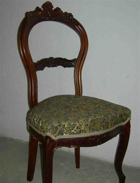 restauro sedie imbottite sedia luigi filippo mobili della nonna