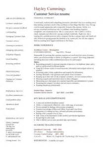 Job Resume Customer Service by Job Resume Samples For Customer Service Galleryhip Com