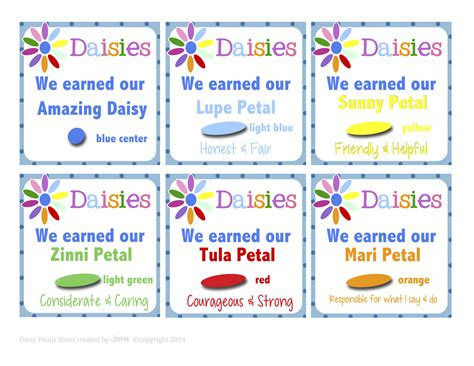 fashionable moms girl scouts daisy petal cards free