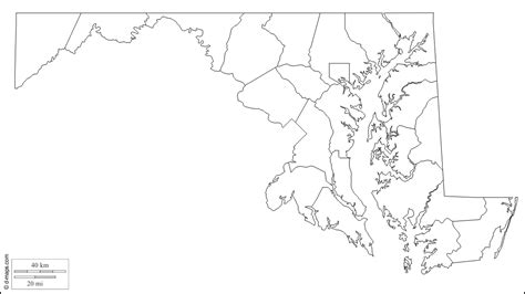map of maryland outline maryland map by county bnhspine