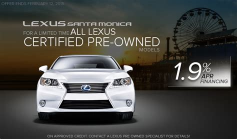lexus certified pre owned model sale special los angeles ca