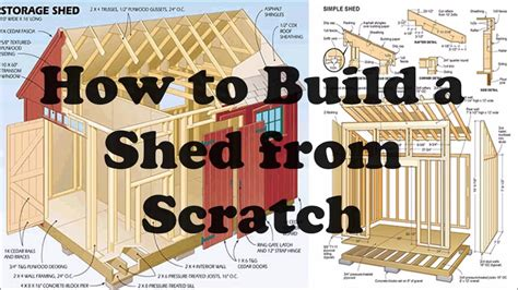 build  shed  scratch youtube