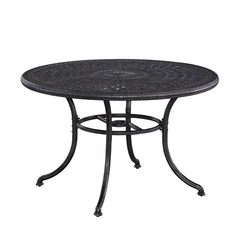 athens charcoal 48 inch outdoor dining table home